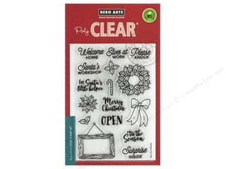 stamp cleared: Hero Arts Poly Clear Stamp Santa's Door Accessories