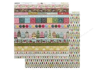 Bo Bunny Christmas In The Village Paper 12 in. x 12 in. Square (25 pieces)