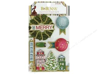 Clearance: Bo Bunny Collection Christmas In The Village Chipboard Layered