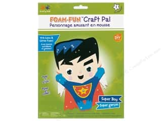 projects & kits: Multicraft Krafty Kids DIY Kit Foam Pal Super Boy