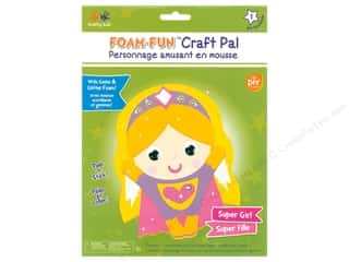 projects & kits: Multicraft Krafty Kids DIY Kit Foam Pal Super Girl