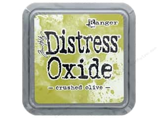 stamps: Ranger Tim Holtz Distress Oxide Ink Pad Crushed Olive