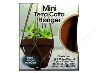 Pepperell Kit Planter & Hanger Set Mini Terra Cotta