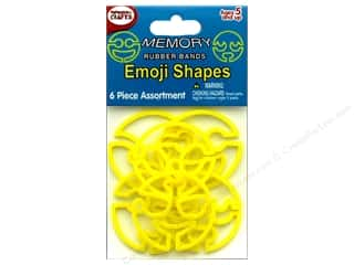 elastic: Pepperell Memory Rubber Bands Emoji Shapes