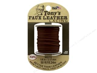 Pepperell Faux Leather Lacing 1/8 in. x 50 ft. Brown