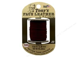 Pepperell Faux Leather Lacing 3/32 in. x 50 ft. Brown