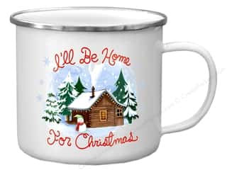Clearance: Molly & Rex Enamel Mug Holiday Home For Christmas