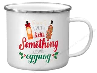 Molly & Rex Enamel Mug Holiday Something In Eggnog