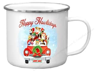 Clearance: Molly & Rex Enamel Mug Holiday Happy Howlidays