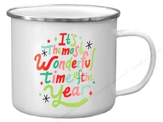 Clearance: Molly & Rex Enamel Mug Holiday Wonderful Time Year