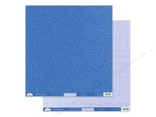 Doodlebug Collection Petite Prints Paper 12 in. x 12 in. Floral/Graph Blue Jean (25 pieces)