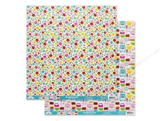 Doodlebug Collection So Much Pun Paper 12 in. x 12 in. Dash Of Flower (25 pieces)
