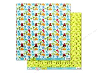 scrapbooking & paper crafts: Doodlebug Collection So Much Pun Paper 12 in. x 12 in. T-riffic (25 pieces)