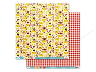 Doodlebug Collection So Much Pun Paper 12 in. x 12 in. Fantas-Taco (25 pieces)