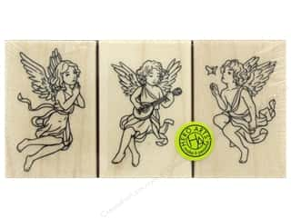 scrapbooking & paper crafts: Hero Arts Rubber Stamp Set Angel Trio