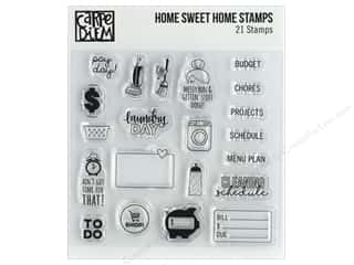 stamp cleaned: Simple Stories Carpe Diem Stamp Home Sweet Home