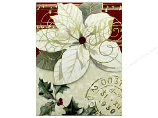gifts & giftwrap: Punch Studio Note Pad Pocket Poinsettia White