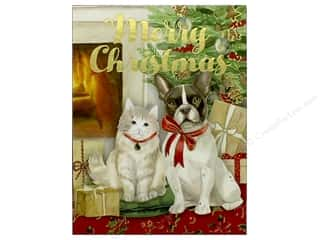 Punch Studio Note Pad Pocket Merry Christmas Dog Cat