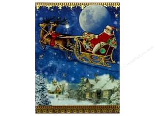 Clearance: Punch Studio Note Pad Pocket Santa's Sleigh