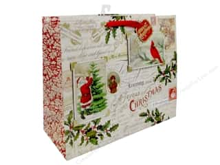 Clearance: Punch Studio Gift Bag Postcards & Holly Large Horizontal
