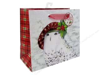 gifts & giftwrap: Punch Studio Gift Bag Snowy Friends Medium Horizontal
