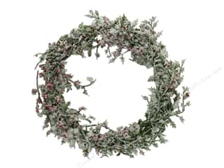 Sierra Pacific Crafts Holly Wreath/Berries Mini 7 in. Red/Green