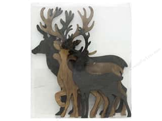 Sierra Pacific Crafts Wood Flat Deer Set