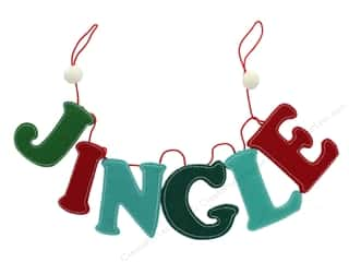 craft & hobbies: Sierra Pacific Crafts Felt Garland 30 in. Jingle Green/Red