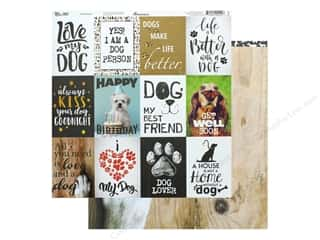 Reminisce Paper 12 in. x 12 in. My Best Friend Dog (25 pieces)