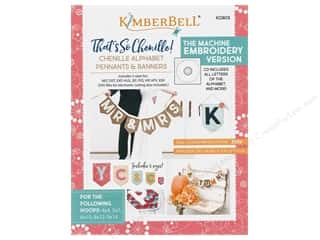 Kimberbell Designs That's Sew Chenille Alphabet Pennants & Banners Embroidery Version CD and Book
