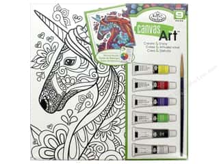 craft & hobbies: Royal Set Canvas Art Paint Unicorn