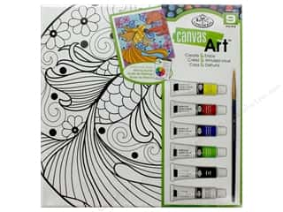 craft & hobbies: Royal Set Canvas Art Paint Fish