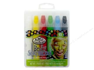 craft & hobbies: Royal Set Body Scribblers Primary 6 pc