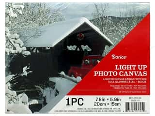craft & hobbies: Darice Light Up Canvas LED 7.8 in. x 5.9 in. Winter Truck