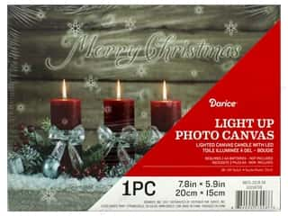 craft & hobbies: Darice Light Up Canvas LED 7.8 in. x 5.9 in. Candle