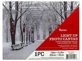 novelties: Darice Light Up Canvas LED 7.8 in. x 5.9 in. Winter Park