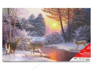 novelties: Darice Light Up Canvas LED/Timer Winter Scene