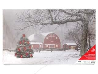 novelties: Darice Light Up Canvas LED/TimerWinter Barn