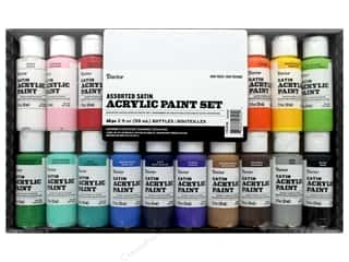 craft & hobbies: Darice Paint Acrylic 2 oz Satin 16 pc