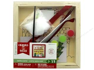 Darice Wood Canvas Kit Santa Scene