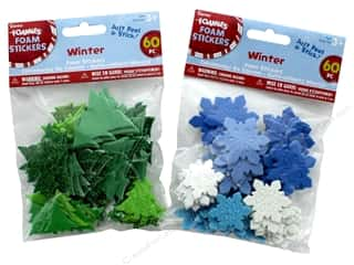 stickers: Darice Foamies Sticker Winter Tree And Snowflake Assorted