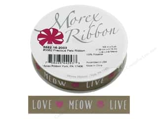 ribbon: Morex Ribbon Precious Pets 5/8 in. x 3 yd Live Love Meow