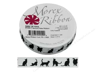 Morex Ribbon Precious Pets 5/8 in. x 3 yd Cat Silhouettes