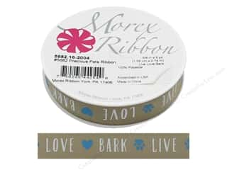 Morex Ribbon Precious Pets 5/8 in. x 3 yd Live Love Bark