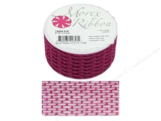 ribbon: Morex Ribbon Wire Victoria 1.5 in. x 3 yd Hot Pink