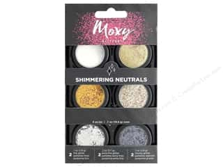 American Crafts Moxy Glitter Pot Set 6 pc. Shimmering Neutrals