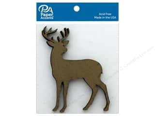 scrapbooking & paper crafts: Paper Accents Chip Shape Stag Natural 6 pc