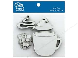 scrapbooking & paper crafts: Paper Accents Chip Shape Cup & Cocoa White 24 pc