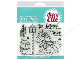 stamp cleaned: Avery Elle Clear Stamp Christmas Magic