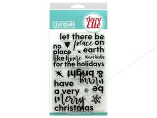 stamps: Avery Elle Clear Stamp Corner Sentiments-Holiday
